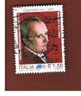 ITALIA REPUBBLICA  -   2009  NINO  ROTA          -   USATO  ° - 6. 1946-.. Repubblica