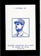 1985 Mort Général De Gaulle,Testament,Appel 18 Juin / Encart Militaria / Cachet De Toulouse Sur Bande N° 1698 A - De Gaulle (Generale)