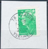 France - Marianne De Beaujard YT A211 (4229) Obl. Cachet Rond Sur Fragment - Adhésifs (autocollants)