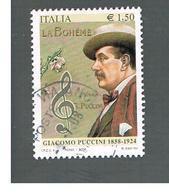 ITALIA REPUBBLICA  -   2008   G. PUCCINI   -   USATO  ° - 1946-.. République