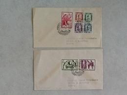 Nr.998/1004 Enveloppe Van Brussel Naar Antwerpen Eerstedagafstempeling 17-12-56. - Covers & Documents