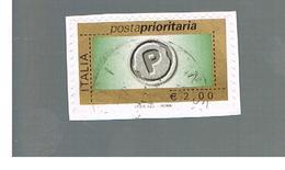 ITALIA REPUBBLICA  -   2008   PRIORITARIA DA  2,00   -   USATO  ° - 1946-.. République