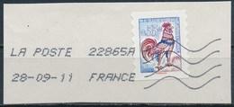 France - Coq De Decaris 0.55€ YT A228 (4290) Obl. Ondulations Toshiba Sur Fragment - France