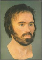 Reconstruction Of The Head Of Lindow Man, 1986 - British Museum Postcard - Museum