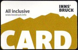 AUSTRIA 2019 - INNSBRUCK - INNS'BRUCK CARD - ALL INCLUSIVE - Altre Collezioni