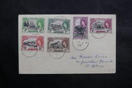SAINTE HÉLÈNE - Enveloppe En Port Local En 1957 , Affranchissement Plaisant - L 36088 - St. Helena