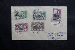 SAINTE HÉLÈNE - Enveloppe En Port Local En 1957 , Affranchissement Plaisant - L 36089 - Sainte-Hélène