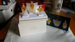 Coffret De Miniatures LALIQUE Année 2000 3 Bouteilles Pleines - Miniatures Modernes (à Partir De 1961)