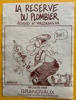 11048 - La Réserve Du Plombier Boand Et Maccagni Suisse Grandvaux 1989 Illustration Barrigue - Métiers