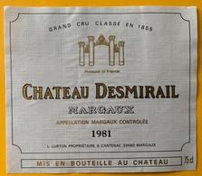 11048 - Château Desmirail 1981 Margaux - Bordeaux