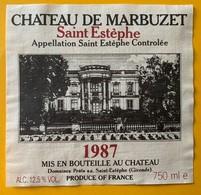 11050 - Château De Marbuzet 1987 Saint Estèphe - Bordeaux