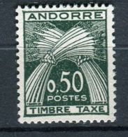 ANDORRE ( TAXE ) :  Y&T N° 45   TIMBRES  NEUFS  SANS  TRACE  DE  CHARNIERE . - Timbres-taxe