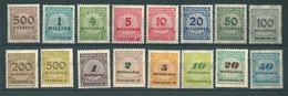 MiNr. 313-330 PE 1 **  (0171) - Deutschland