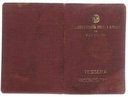 B3356- Tessera Universitaria Di Palermo 1947 - Documenti Storici