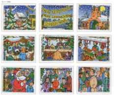 D - [153742]TB//**/Mnh-[2671/79] Belgique 1996, Noël Et Nouvel An, Panorama D'un Marché De Noël, Du Bloc 73, SC, SNC - Christmas