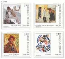 D - [153904]TB//**/Mnh-[2741/44] Belgique 1998, Art, 200 Ans Du Musée Des Beaux-Arts à Gand, Tableaux, Painting, Du Carn - Art