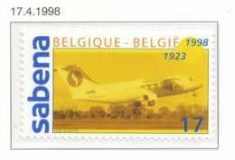 D - [153931]TB//**/Mnh-[2753] Belgique 1998, 75 Ans De La SABENA, Avion Avro RJ85, SNC - Airplanes