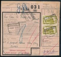 """Vrachtbrief Met Stempel  """"EKSAARDE"""" + """"LOKEREN"""" - (ref. Nr 526) - Chemins De Fer"""