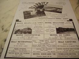 ANCIENNE PUBLICITE PAQUES ET LE PRINTEMPS SUR LA COTE BASQUE BIARRITZ 1930 - Pubblicitari