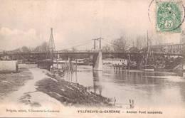 Cpa Villeneuve La Garenne - Ancien Pond Suspendu - Villeneuve La Garenne