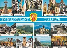 ALSACE - MULTIVUES (KAYSERSBERG, EGUISHEIM, RIQUEWHIR, COLMAR, RIBEAUVILLE, ...) - #15-67000 02 02 - Alsace