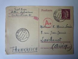 2019 - 1862  ENTIER POSTAL Au Départ De STETTIN-SYDOWSAUE  à Destination De LAVELANET   1944   XXX - Deutschland