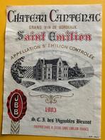11062 - Château Cantenac 1983 Saint-Emilion - Bordeaux