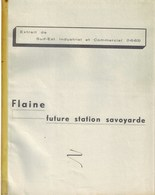 Flaine 1963 Future Station Téléphérique Haute Savoie / Livret De Présentation 4 Pages - Publicités