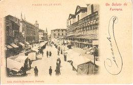 FERRARA - Piazza Delle Erbe Con Mercato, Ben Animata, Viag. 1903- 2019-293 - Ferrara