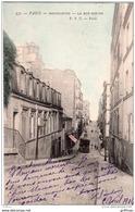 PARIS MONTMARTRE LA RUE BERTHE 1904 PRECURSEUR TBE - Arrondissement: 18