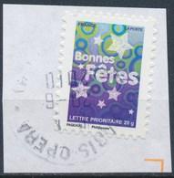 France - Bonnes Fêtes 2008 - YT A244 (4313) Obl. Cachet Rond Sur Fragment - Adhésifs (autocollants)