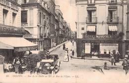 Cpa  DIEPPE _ Rue De La Halle Au Blé Et Rue De L' Epée. - Dieppe