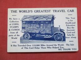 Blank Back-- World's Greatest Travel Car Traveled Over 115,000 Miles Around The World   Ref 3497 - Passenger Cars