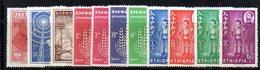 ETP265 - ETIOPIA  , Annata 1963 Completa 11 Valori ( Yvert  N 405/415)    *  Linguella - Etiopia