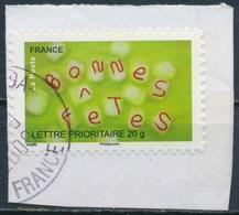 France - Bonnes Fêtes 2008 - YT A250 (4319) Obl. Cachet Rond Sur Fragment - Adhésifs (autocollants)