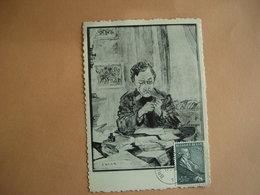 Bruxelles. Peinture :967. Cachet 21.5.1955. Portrait D'Emile Verhaeren Par James Ensor - Belgio