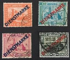 1923 Freimarken Mit Aufdruck Dienstmarke In Farbänderung Mi. 12 - 15 - 1920-35 Société Des Nations