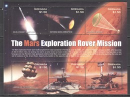 F1186 GRENADA SPACE MARS EXPLORATION ROVER MISSION 1KB MNH - Andere