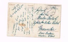Carte Postale Expédiée En Feldpost à Erstein (Unterelsass).Censure Roumaine? - Allemagne