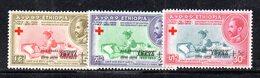 ETP262b - ETIOPIA 1959 ,  Yvert  N 349/351    *  Linguella . Croce Rossa - Etiopia