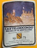 11083 - Castelgiocondo Brunello Di Montalcino 1975 Italie - Etiketten