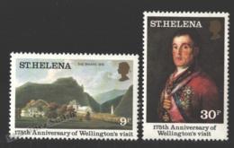 Sainte Helene - Saint Helena 1980 Yvert 330-31, 175th Ann. Visit Of Wellington - MNH - Isla Sta Helena