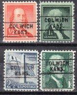 USA Precancel Vorausentwertung Preo, Locals Kansas, Colwich 745, 4 Diff. - Vereinigte Staaten