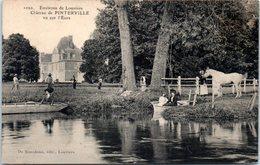27 - PINTERVILLE --  Château - Vu Sur L'Eure - Pinterville