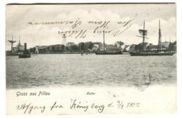 Gruss Aus PILLAU Hafen Ansicht 1905 - Ostpreussen