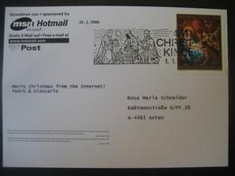 Österreich- 1.1.2000 Christkindl Glückwunsch Aus Dem Internet Zum Jahrtausendwechsel - 1991-00 Covers