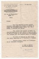 ENVOI EN MISSION D'UNE DAME COLONIE DE VACANCES DU CHATEAU DE MARTOT PAR CRIQUEBEUF S/ SEINE GARE DE PONT DE L'ARCHE - Documentos Históricos