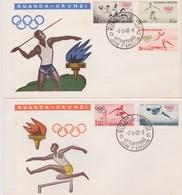 Ruanda-Urundi 1960 Rome Olympic Games FDC - Ruanda-Urundi