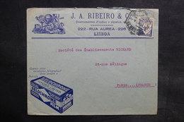 PORTUGAL - Enveloppe Commerciale De Lisbonne Pour Paris En 1933 - L 36119 - 1910-... République