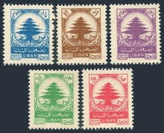 Lebanon 210-214,lightly Hinged.Michel 382-386. Cedar 1948. - Lebanon